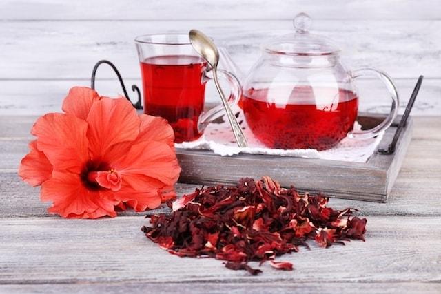 Chá Natural Para Emagrecer hibisco