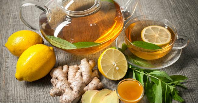 Chá Natural Para Emagrecer limão e gengibre