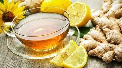 Chá de Limão Gengibre e Mel Pinterest.com 2
